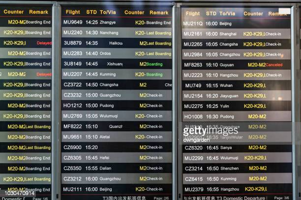 flights departures board - canceled stock pictures, royalty-free photos & images