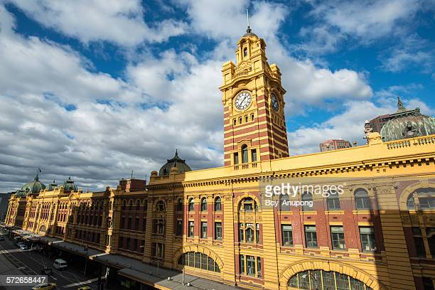 Flinders street clock tower, Melbourne, Australia.