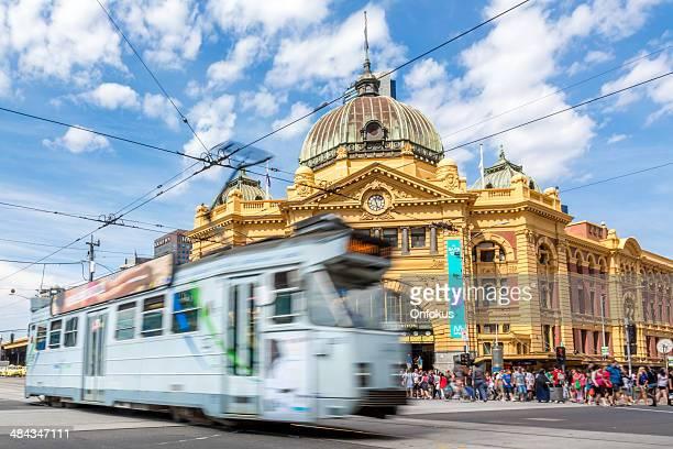 Flinders Street Station and Tram in Melbourne, Australia
