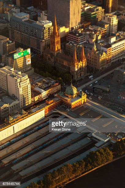 Flinders Street Station from above