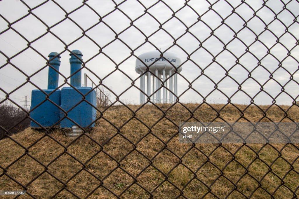 Flint Michigan Water Tower : Stock Photo