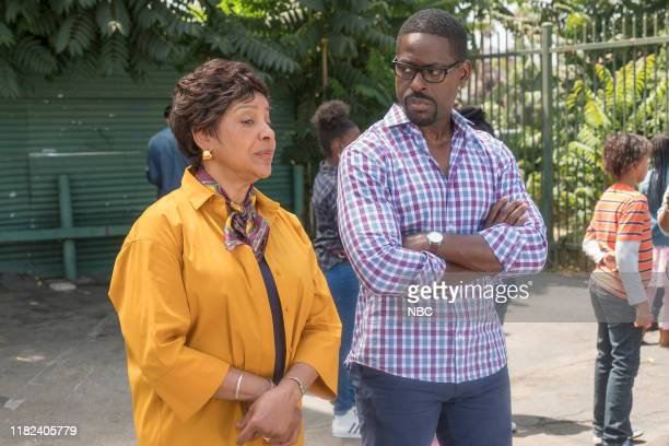 """Flip a Coin"""" Episode 404 -- Pictured: Phylicia Rashad as Carol, Sterling K. Brown as Randall --"""