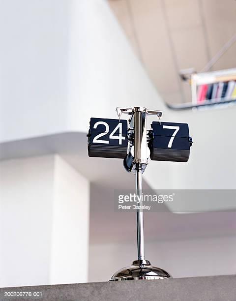 Flip calendar on desk, close-up