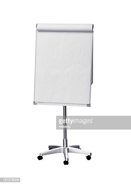 Flip chart (clipping path), isolated on white background