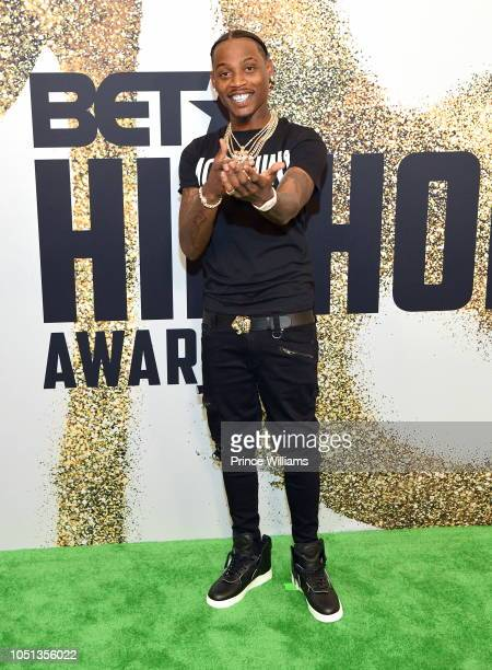 Flip Dinero arrives at the BET Hip Hop Awards 2018 at Fillmore Miami Beach on October 6 2018 in Miami Beach Florida