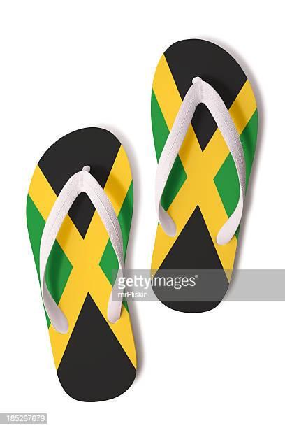 Flipflops mit Jamaikanische Flagge