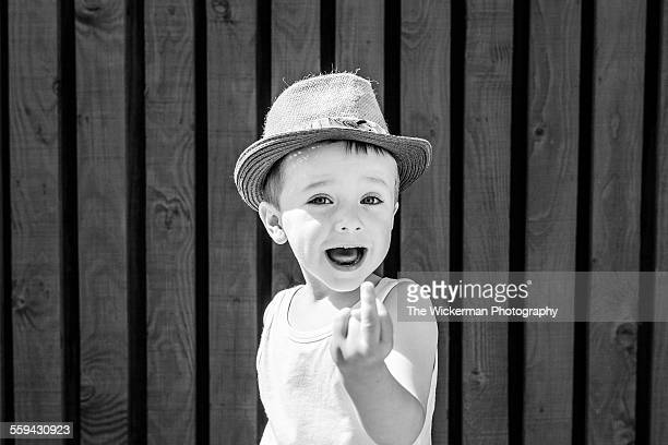 flip it - kid middle finger stock pictures, royalty-free photos & images