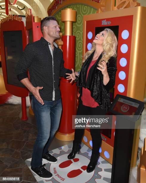 Flip or Flop Vegas' Stars Bristol and Aubrey Marunde visit HGTV Santa HQ at Los Cerritos Centeron December 1, 2017 in Los Angeles, California.