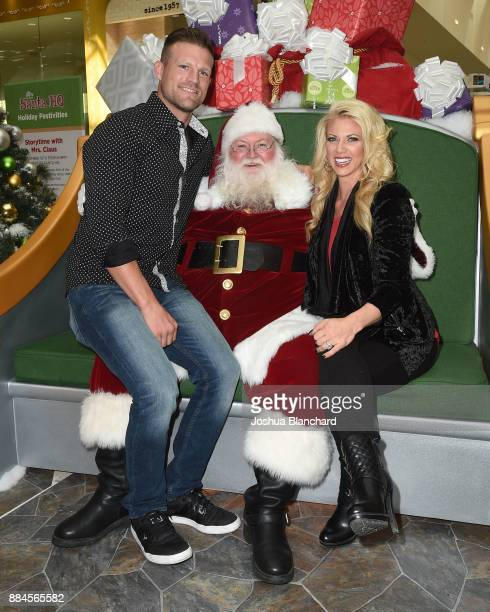 Flip or Flop Vegas' Stars Bristol and Aubrey Marunde visit with Santa at the HGTV Santa HQ at Los Cerritos Centeron December 1, 2017 in Los Angeles,...