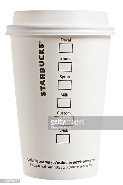 Flip Side Of A Starbucks Paper Coffee Cup
