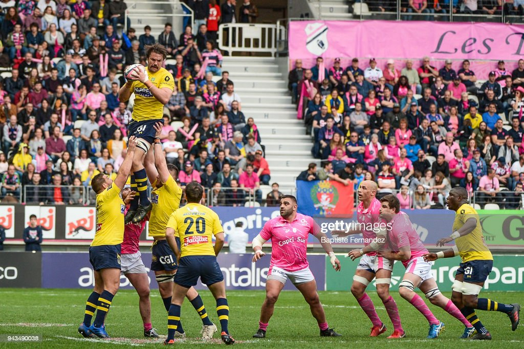 Flip Van Der Merwe of Clermont during the French Top 14 match between Stade Francais and Clermont at Stade Jean Bouin on April 7, 2018 in Paris, France.