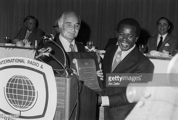 Flip Wilson receiving an award circa 1970 New York