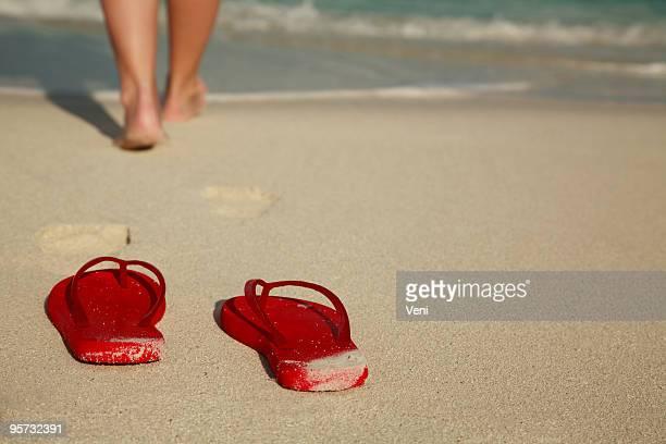 "Caribean ""Flip flops en la playa"