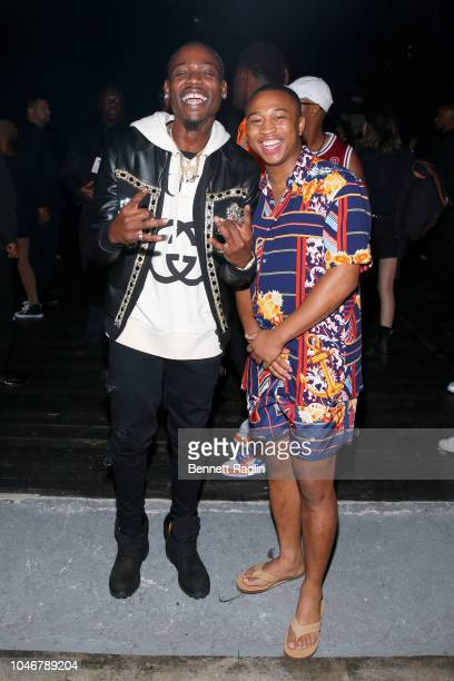 Flipp Dinero and Shiggy are seen backstage during the BET Hip Hop Awards 2018 at Fillmore Miami Beach on October 6 2018 in Miami Beach Florida