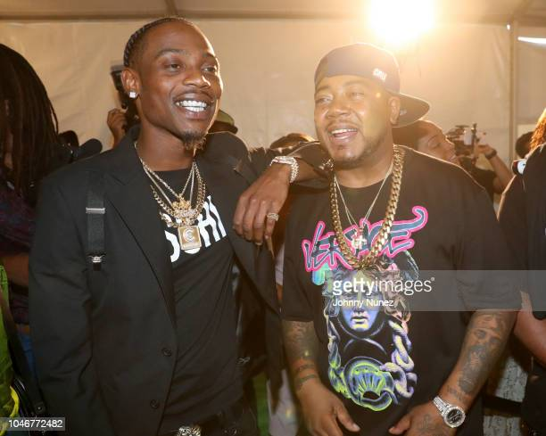 Flipp Dinero and Twista arrive at the BET Hip Hop Awards 2018 at Fillmore Miami Beach on October 6 2018 in Miami Beach Florida