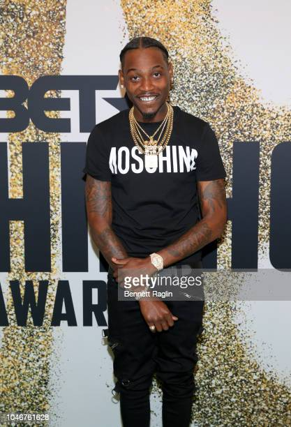 Flipp Dinero arrives at the BET Hip Hop Awards 2018 at Fillmore Miami Beach on October 6 2018 in Miami Beach Florida
