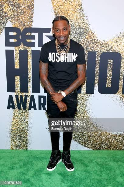 Flipp Dinero arrives at the BET Hip Hop Awards 2018 at Fillmore Miami Beach on October 6 2018 in Miami Beach Florida