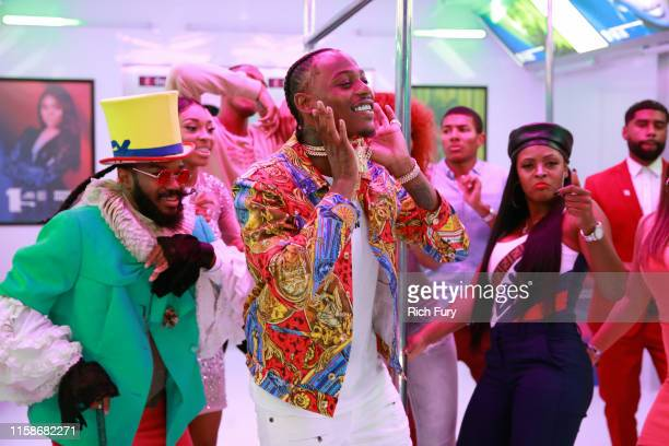 Flipp Dinero attends the InstaCarpet during the BET Awards 2019 at Microsoft Theater on June 23 2019 in Los Angeles California