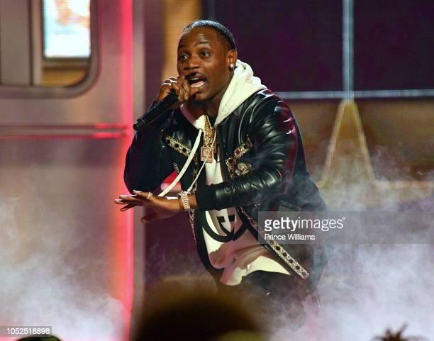 Flipp Dinero performs at the BET Hip Hop Awards 2018 at Fillmore Miami Beach on October 6 2018 in Miami Beach Florida