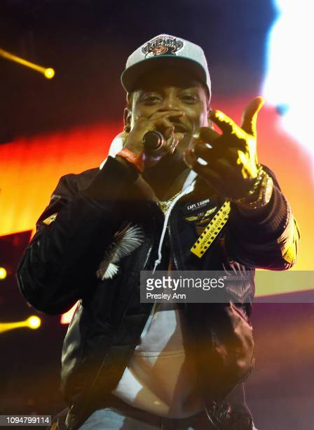Flipp Dinero performs during Pandora Live Trap Karaoke at Exchange LA on February 6 2019 in Los Angeles California