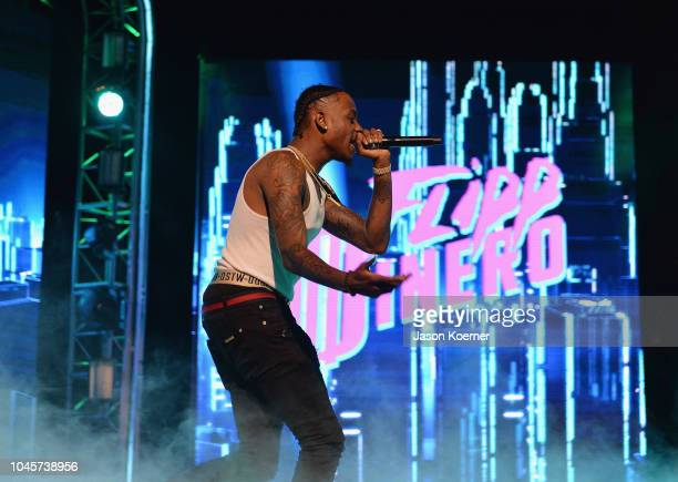 Flipp Dinero performs on stage during the BET Hip Hop Awards 2018 Rehearsals at The Fillmore Miami Beach on October 4 2018 in Miami Beach Florida