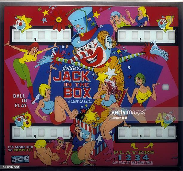 USA Flipperscheibe 'Jack in the box' Mai 1973