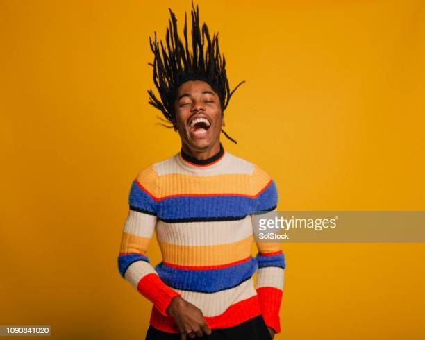 flipping his hair - multi coloured stock pictures, royalty-free photos & images
