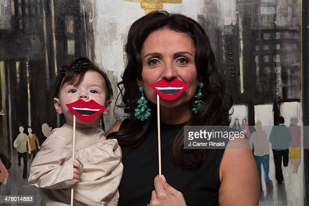 Flipping Out star/author Jenni Pulos and her daughter Alianna attend the Grin And Bear It Book event on March 10 2014 in New York United States