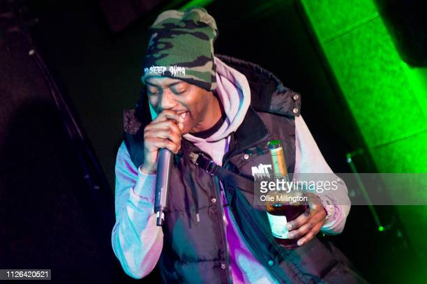 Flirta D performs during Grime Aid 2019 for Road to Freedom in memory of Cadet at The Ace Hotel on February 20 2019 in London England