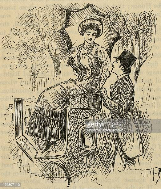 Flirting Illustration by George du Maurier published 1882