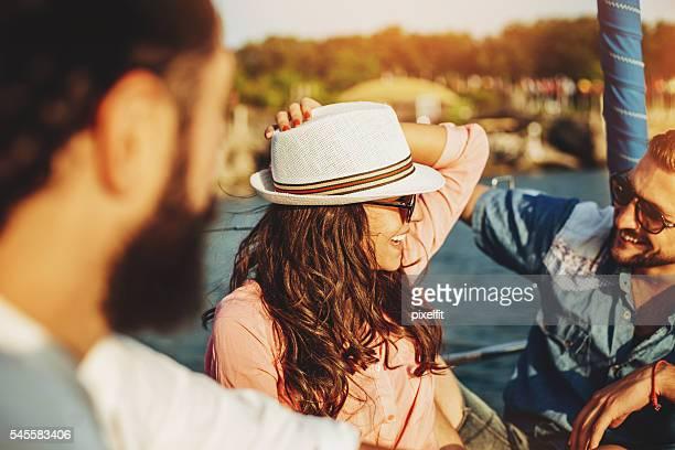 Flirter sur un yacht