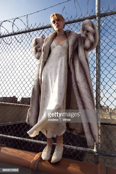 flirting with the fence - all hip hop models stock photos and pictures