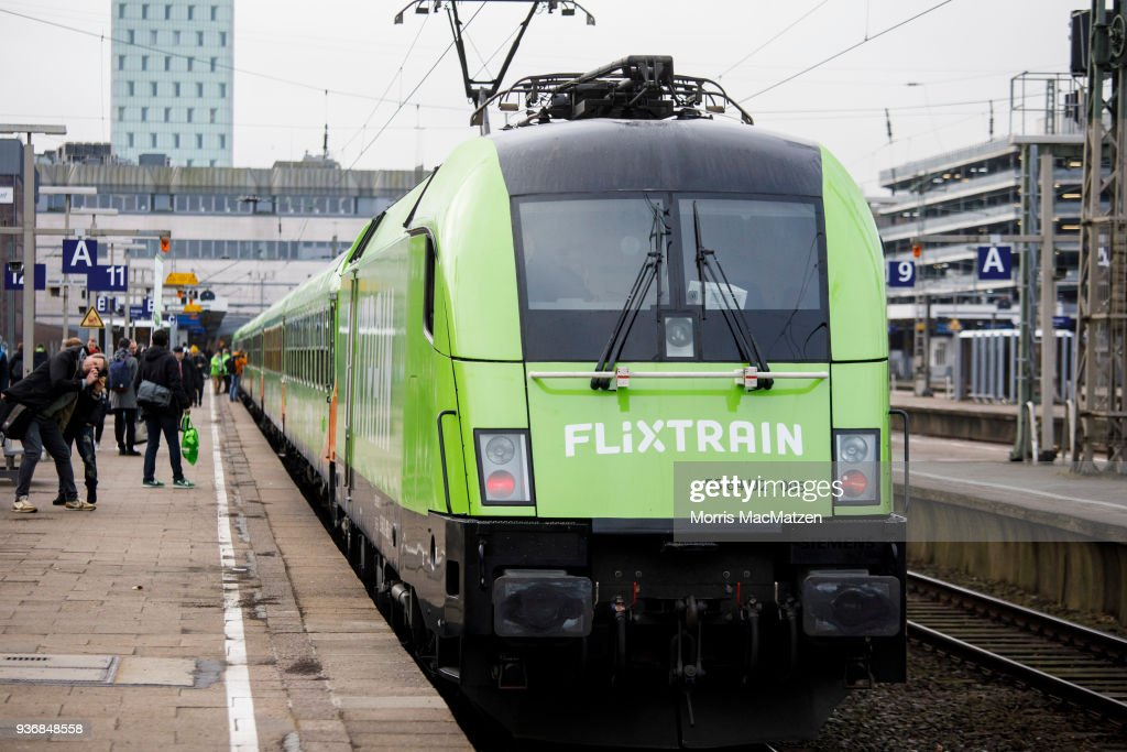 A Flixtrain Is Ready To Depart For Its First Journey From Hamburg To Cologne On March