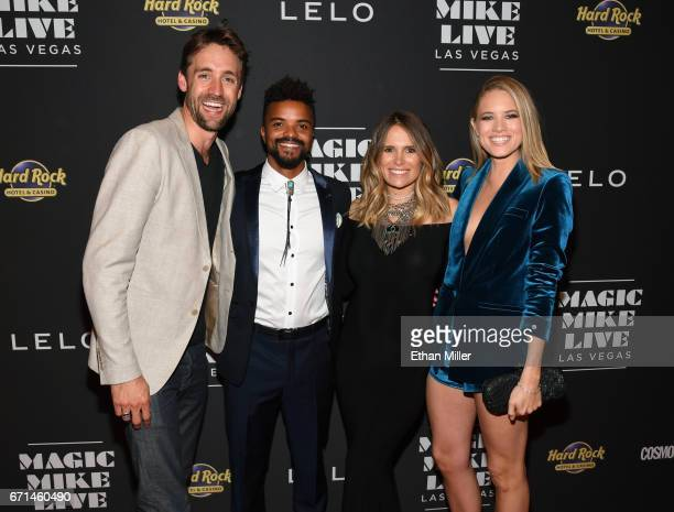 Flm producer/director Reid Carolin actor Eka Darville Leela Darville and actress Cody Horn attend the grand opening of Magic Mike Live Las Vegas at...