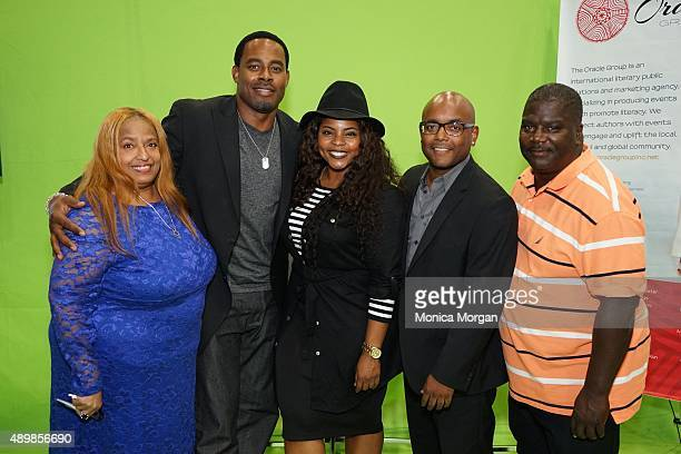 Flo Anthony Lamman Rucker Brely Evans Trey Haley Carl Weber posing at the 45th Annual Legislative Conference Congressional Black Caucus at Walter E...
