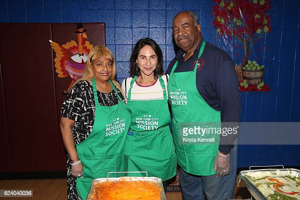 Flo Anthony Peggy Bader and Francis W Kairson Jr attend the Jean Shafiroff Jay Moorhead Underwrite Annual Community Thanksgiving Dinner at NYC...