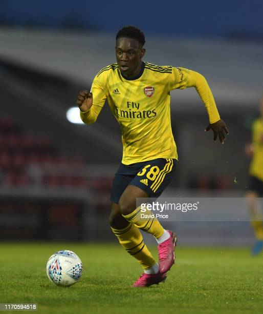Flo Balogun of Arsenal during the Leasingcom match between Northampton Town and Arsenal U21 at PTS Academy Stadium on August 27 2019 in Northampton...