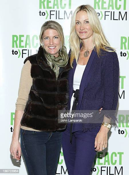 Flo Fulton and Christie Mack attend the Sing Your Song screening at the Museum of Modern Art on January 10 2012 in New York City