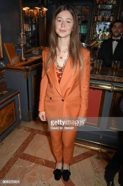 Flo Morrisey wearing Paul Smith attends the Paul Smith Malgosia Bela AW18 Lunch on January 21 2018 in Paris France