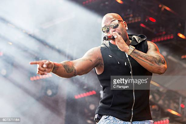 Flo Rida on the Grandview Stage during the 2016 KAABOO Del Mar at the Del Mar Fairgrounds on September 17 2016 in Del Mar California