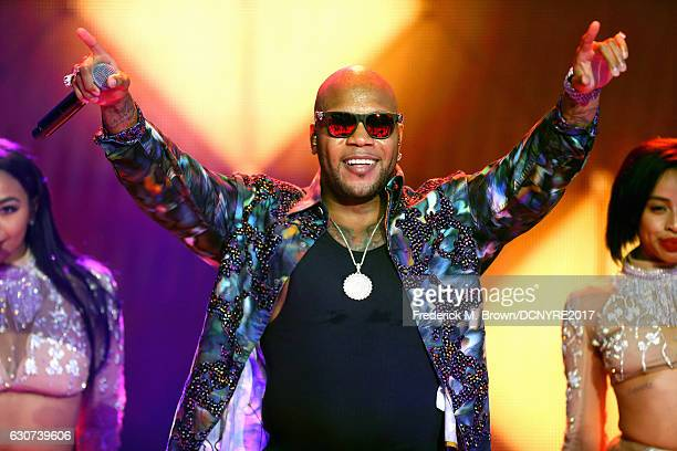Flo Rida performs at Dick Clark's New Year's Rockin' Eve with Ryan Seacrest on December 31 2016 in Los Angeles California