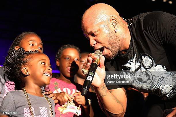 Flo Rida performs at Gulfstream Park on August 17 2013 in Hallandale Florida