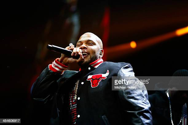 Flo Rida performs at the 1035 KISS FM's Jingle Ball 2013 at United Center on December 9 2013 in Chicago Illinois