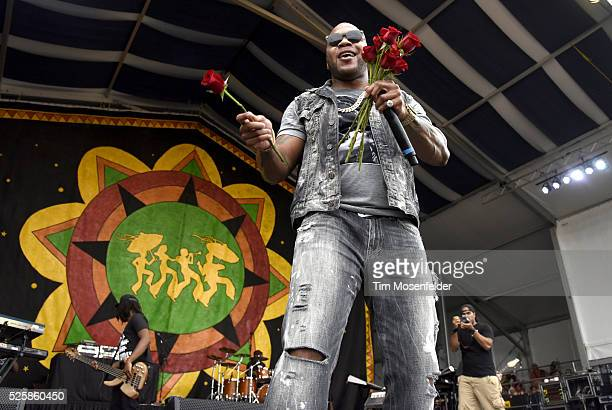 Flo Rida performs during the 2016 New Orleans Jazz Heritage Festival at Fair Grounds Race Course on April 28 2016 in New Orleans Louisiana
