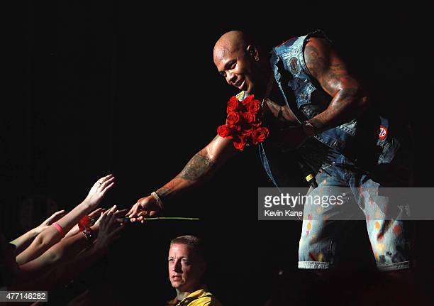 Flo Rida performs during the BLI Summer Jam 2015 at Nikon at Jones Beach Theater on June 13, 2015 in Wantagh, New York.