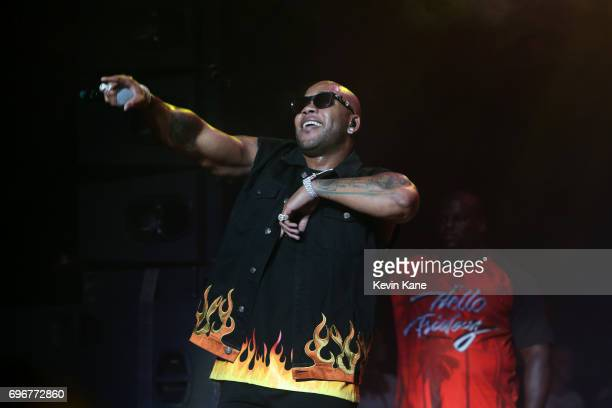 Flo Rida performs on stage during the 2017 BLI Summer Jam at Nikon at Jones Beach Theater on June 16 2017 in Wantagh New York