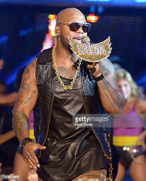 Flo Rida performs onstage during the 2012 Do Something Awards at Barker Hangar on August 19 2012 in Santa Monica California