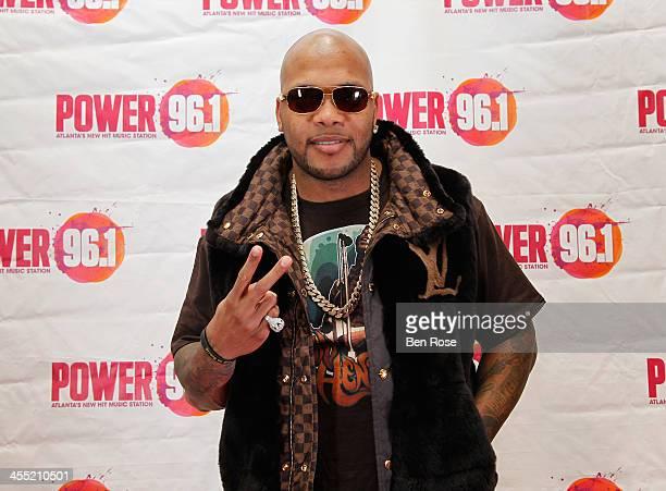 Flo Rida poses backstage at Power 961's Jingle Ball 2013 at Philips Arena on December 11 2013 in Atlanta Georgia