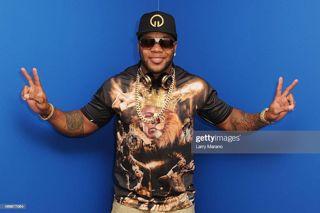 Ne-Yo and Flo Rida Visit Y-100 Radio Station