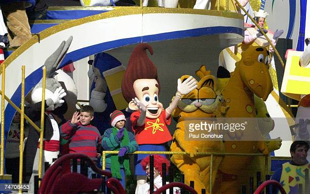 A float commemorating the 75 years of balloons in the Macy's parade at the Times Square in New York City New York